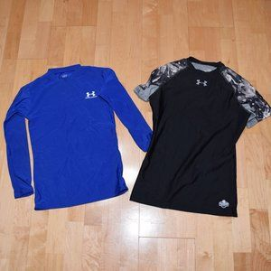 UNDER ARMOUR Boys Sz L Fitted SHIRTS